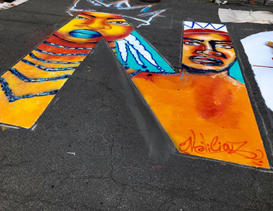 N POUR NOIR.E.S Fresque à Montréal sur Ste-Catherine « LA VIE DES NOIR.E.S Compte » #BLACKLIVESMATTER street mural in Montreal Organized by Dynastie foundation & Never Was Average