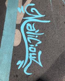 Nouvelle création de rue sur Mont-Royal situé entre les rues Resther et St-Hubert. Mon oeuvre s'inscrit dans un concept de MU qui inclut 30 artistes