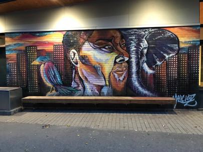 Murale située au parc Nelson Mandela