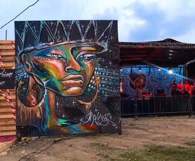 Murale réalisée au Douala Music'Art Festival