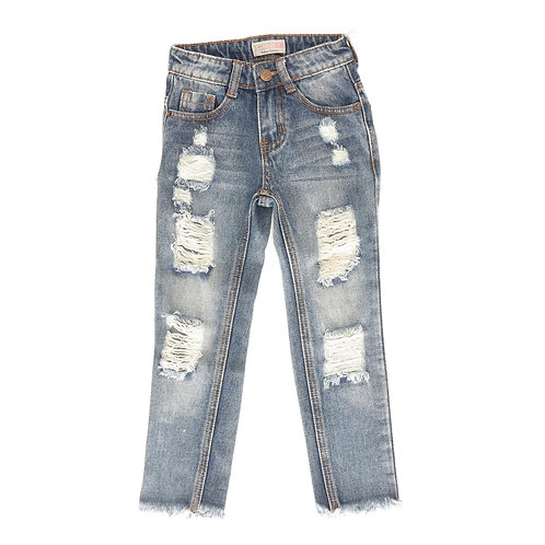 5-6Y | TAMTAM | קרעים עם מכנסי ג'ינס