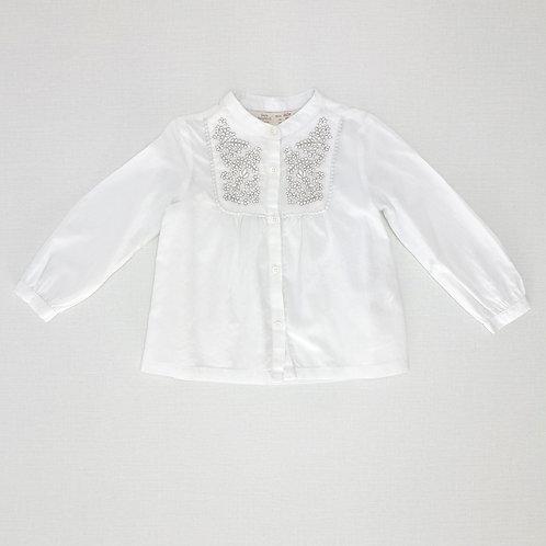 12-18M   ZARA   חולצה רקומה רומנטית