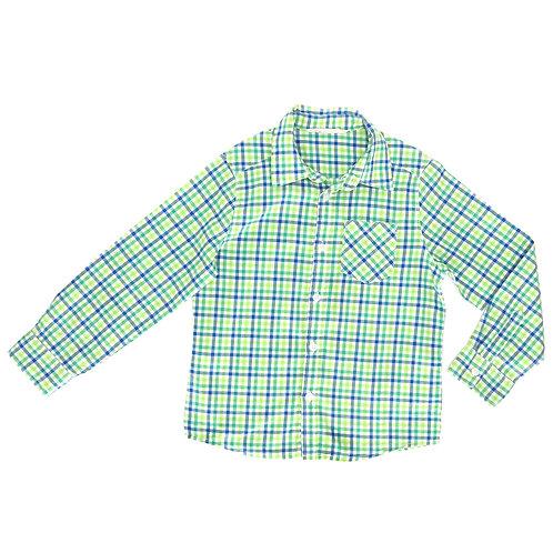 6-7Y   H&M   חולצת כפתורים משובצת
