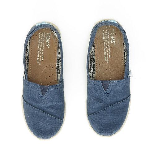 Size 33 | TOMS | מוקסינים מבד כחול