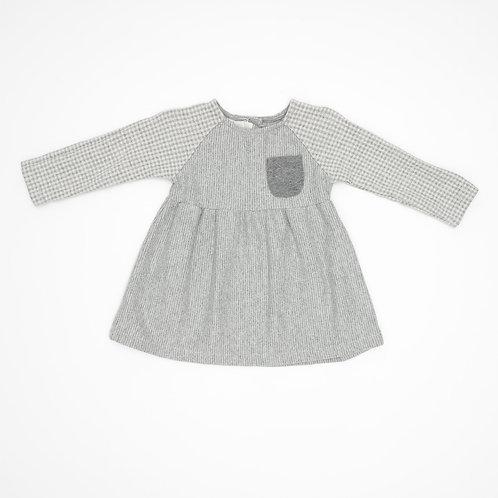 9-12m | ZARA | שמלה אפורה