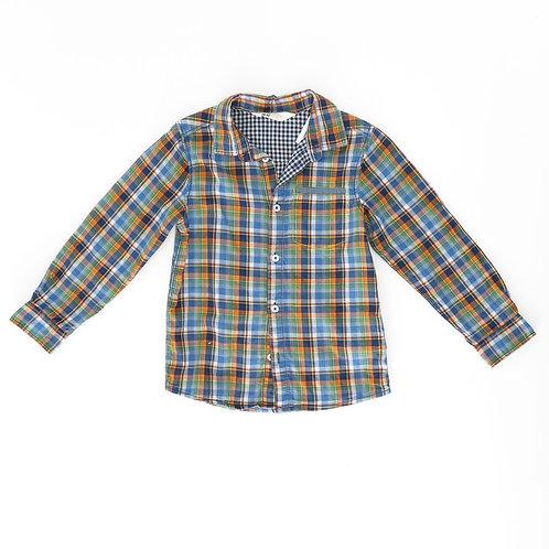 5-6Y | H&M | חולצה משובצת צבעונית