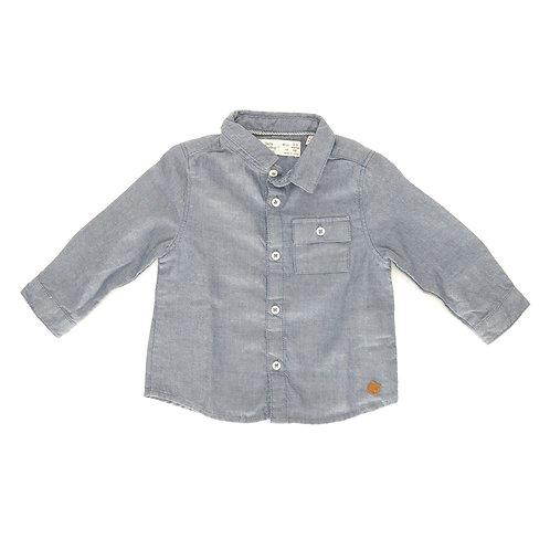 3-6m   ZARA   חולצת כפתורים כחולה