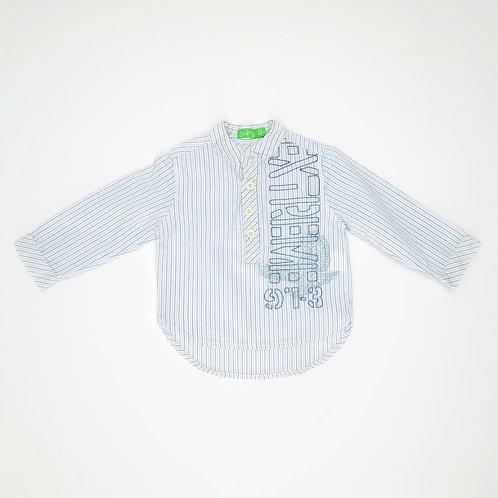 12m | SOLOG | חולצת כותנה צווארון סיני