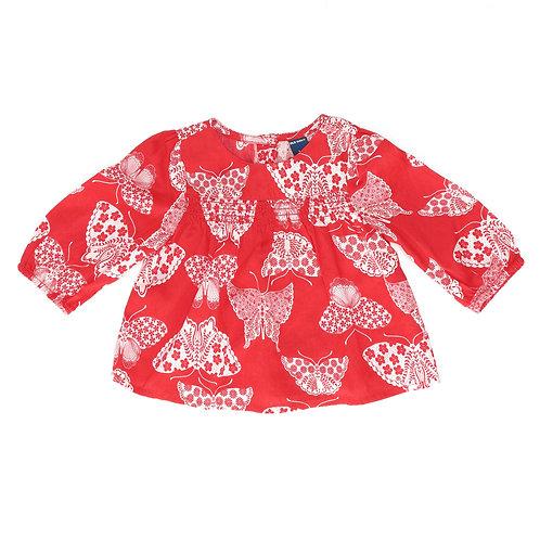 3-6M | GAP | חולצת פרפרים אדומה