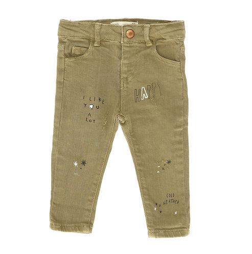 6-9M | ZARA | מכנסי ג'ינס חאקי