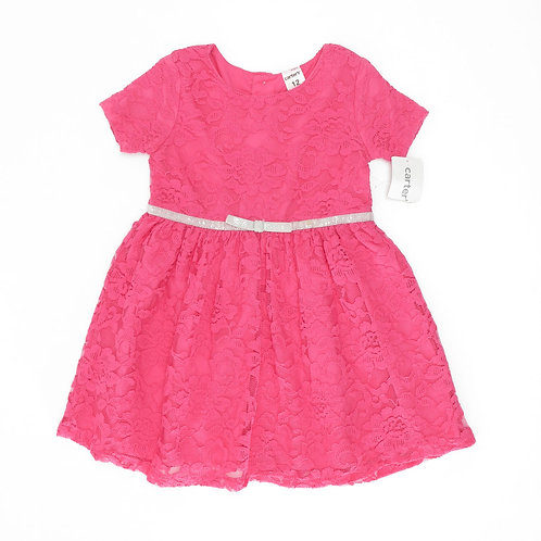 12M   Carter's   שמלת תחרה ורודה