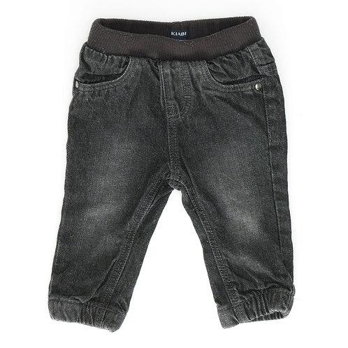 6M | KIABI |מכנסי ג'ינס שחורים דו שכבתי