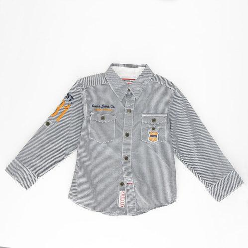 3Y | GUESS | חולצת פסים מכופתרת