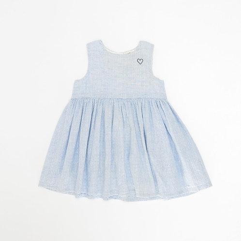 9-12M | H&M | שמלת תכלת חגיגית