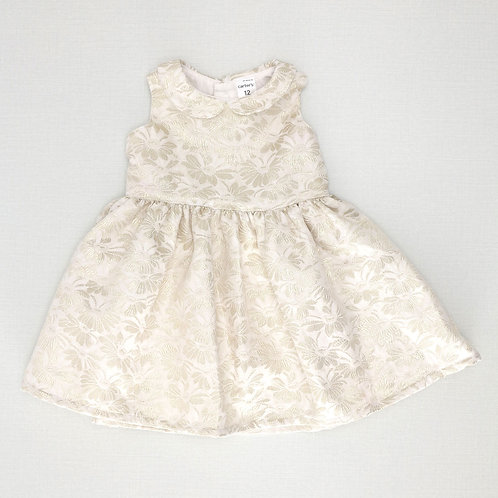 12M | Carter's | שמלה חגיגית מוזהבת