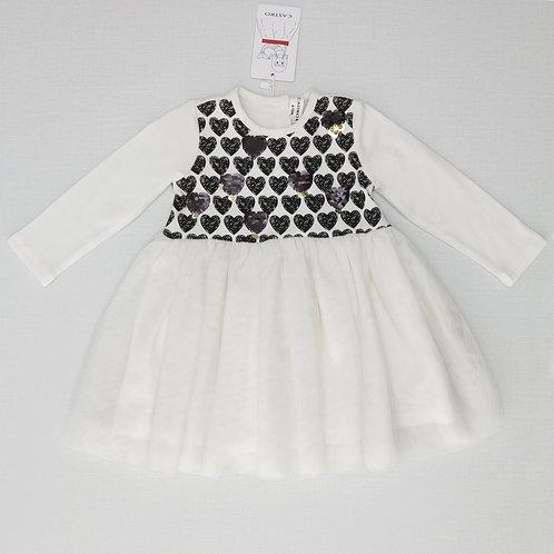 6-12M | CASTRO | שמלת טול לבבות
