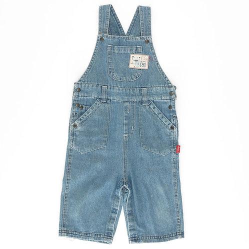 6-12M | SHILAV | אוברול כותנה בצבע ג'ינס