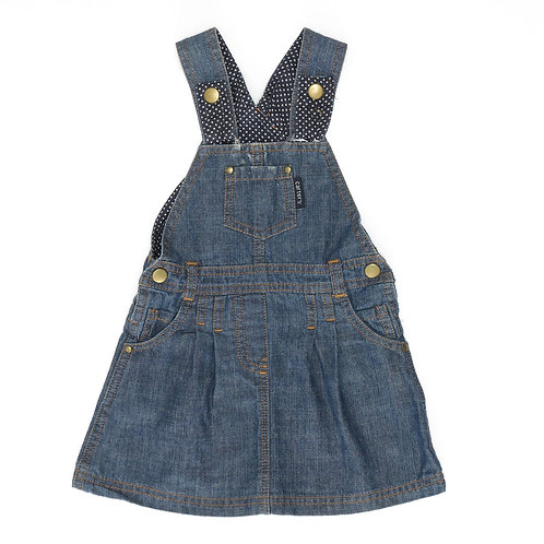 6-9M | Carter's | שמלת אוברול ג'ינס נקודות