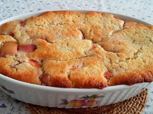 Nectarine and White Peach Pudding Cake