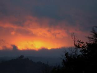 An unusual sunset