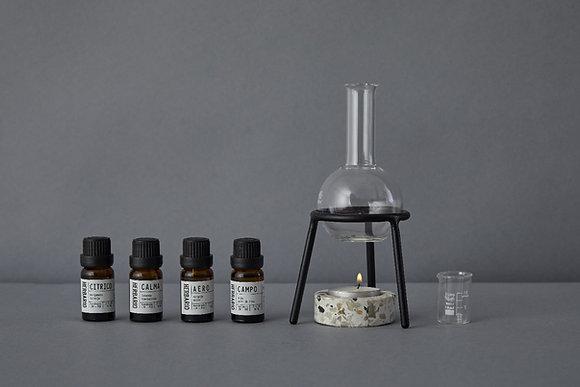 Essential Oil Burner + Oil Blend Set