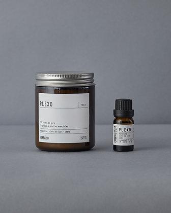 Para el timo - Vela Plexo 250ml + Essential Oil Plexo 10ml
