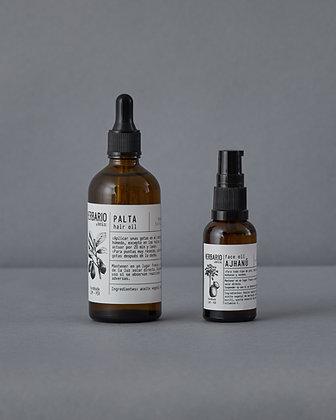 Renovación Amazónica - Hair Oil Palta 100ml + Face Oil Ajhanú 30ml
