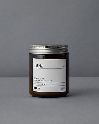 Vela de cera de soja CALMA - lavanda y hierbaluisa