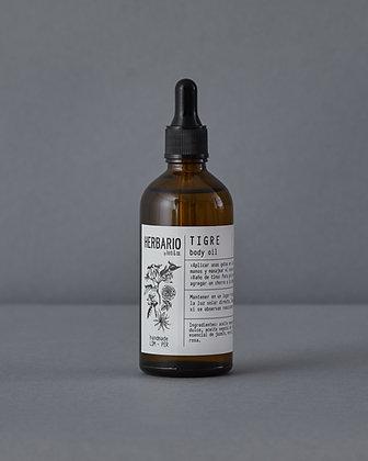 TIGRE Body Oil - jojoba, almendra, jazmín, ylang ylang, rosa y neroli