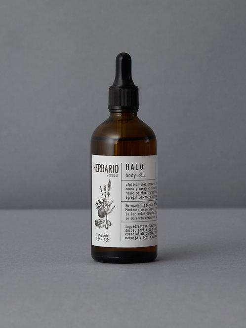 HALO Body Oil - almendra, girasol, canela, naranja y lavanda