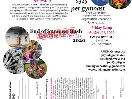 AMKM Summer Camp 2020- Updates