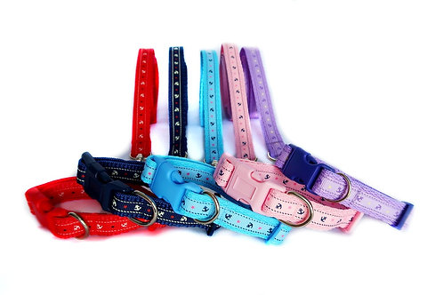 Anchor Puppy Collar and Lead