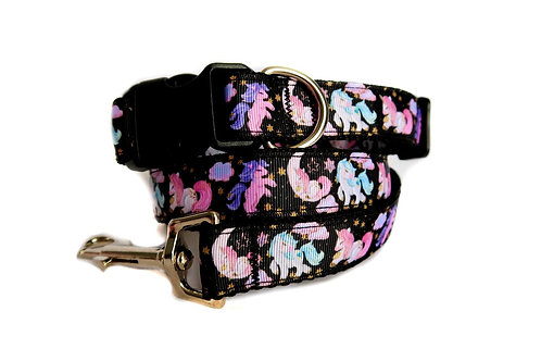 Dreamy Unicorn Dog Collar and Lead