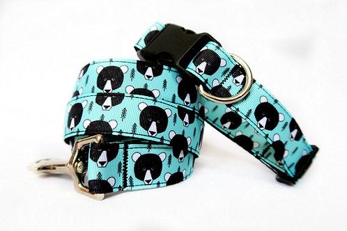Scandinavian Bear Dog Collar & Lead