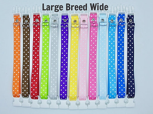 Breeders Club Large Breed WIDE Whelping Collars Polka Dot Singles