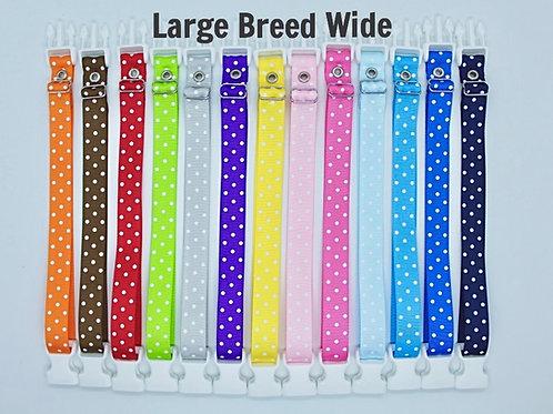Breeders Club Large Breed WIDE Whelping Collars Polka Dot Singles
