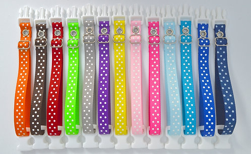 Breeders Club Polka Dot Whelping Collars Set of 13