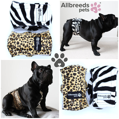 Faux Fur Male Dog Belly Band Training Wrap