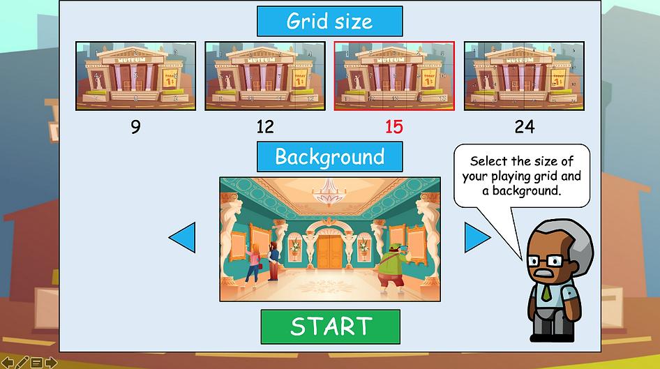 At the museum in-game menu