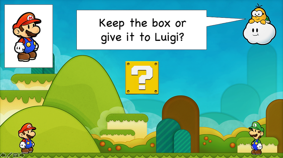 Super Mario mystery box select
