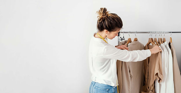 side-view-female-tailor-looking-through-