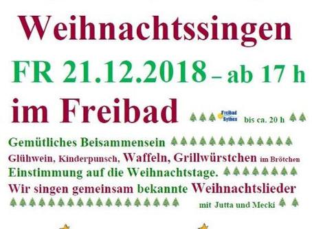 Traditionelles Weihnachtssingen am 21. Dezember