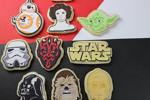 Star Wars inspired Pop Art Cookie Set