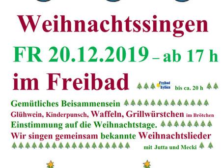 Traditionelles Weihnachtssingen am 20. Dezember