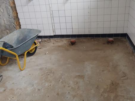 Duschen-Sanierung gestartet!