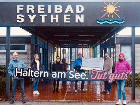 Das Freibad Sythen bekommt einen neuen Schriftzug!