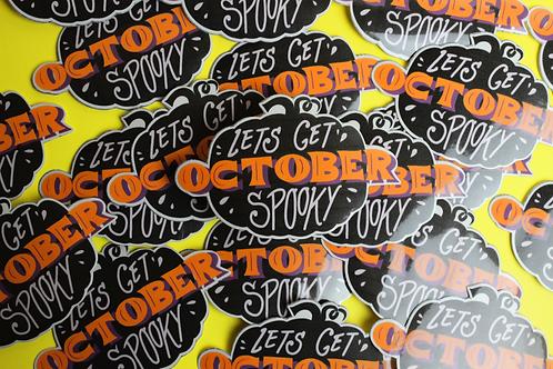 Monthly Sticker: OCTOBER