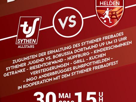 TuS Sythen fordert Ruhrpotthelden und VfL Bochum zu Gunsten des Sythener Freibades