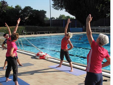 Stretching und Yoga am Nachmittag