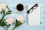 morning-coffee-mug-empty-notebook-pencil